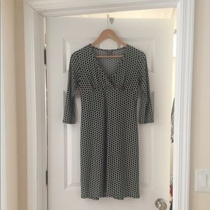 Black and white mid-length dress by Ann Taylor